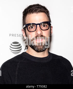 New York, NY - May 04, 2019: Zachary Quinto attends 'Yesterday' Closing Night Gala Film during the 2019 Tribeca Film Festival at SVA Theater - Stock Photo