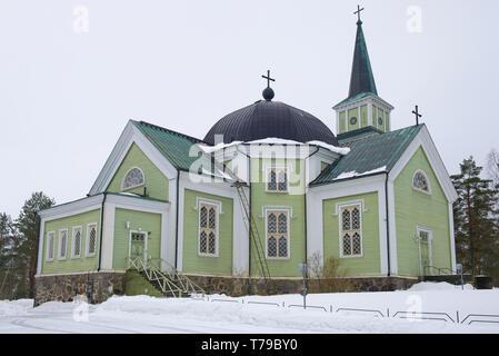 Old Wooden Lutheran Church In Turaida Park Latvia Stock