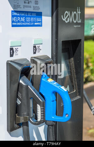 Electric car Evolt charge point in Cambridge, England, UK. - Stock Photo