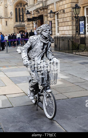 A street entertainer in Bath, England - Stock Photo