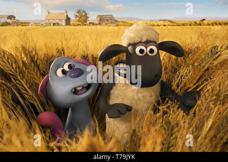 A Shaun the Sheep Movie: Farmageddon (or Shaun the Sheep Movie 2) is an upcoming 2019 British stop-motion animated sci-fi comedy film produced by Aardman Animations.    This photograph is supplied for editorial use only and is the copyright of the film company and/or the designated photographer assigned by the film or production company. - Stock Photo