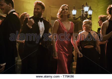 Long Shot is a 2019 American romantic comedy film directed by Jonathan Levine and written by Dan Sterling and Liz Hannah.[4] The plot follows a journalist (Seth Rogen) who begins to spend time with his former babysitter (Charlize Theron), who is now running for president. O'Shea Jackson Jr., Andy Serkis, June Diane Raphael, Bob Odenkirk and Alexander Skarsgard also star.    This photograph is supplied for editorial use only and is the copyright of the film company and/or the designated photographer assigned by the film or production company. - Stock Photo