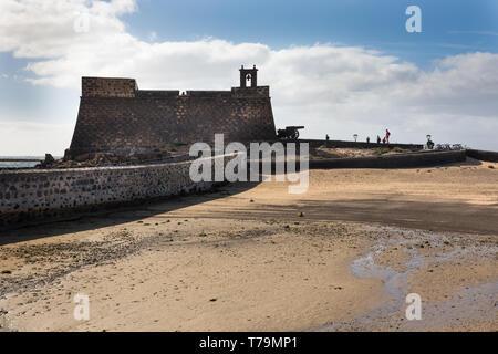Castillo de San Gabriel, Lanzarote. - Stock Photo