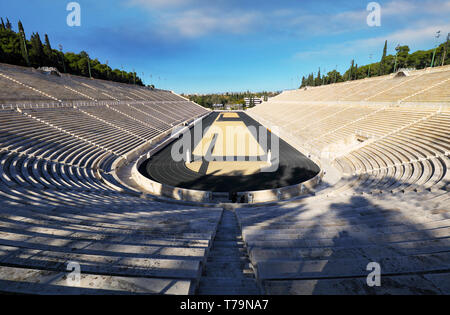 Athens - Panathenaic Stadium in a summer day Greece - Stock Photo