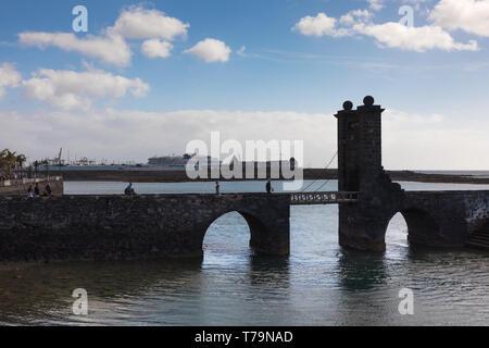 Puente de las Bolas, Arrecife, Lanzarote - Stock Photo