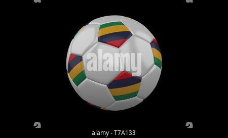 Soccer ball with flag Mauritius, 3d rendering football - Stock Photo