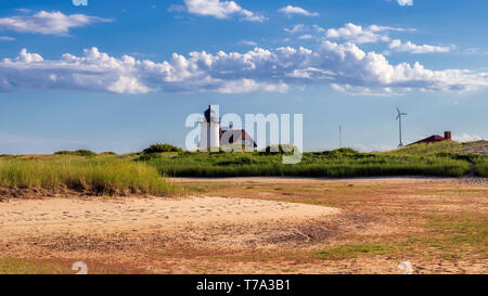 Cape Cod Lighthouse in beach dunes - Stock Photo