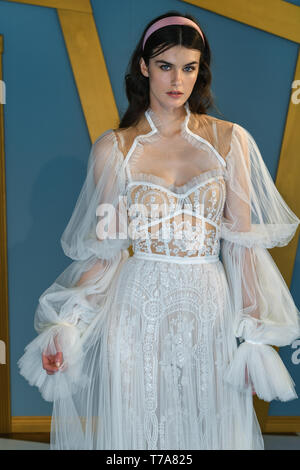 NEW YORK, NY - APRIL 14: A model posing during Galia Lahav Spring 2020 bridal presentation on April 14, 2019  in New York, NY - Stock Photo