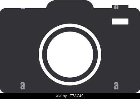 Flat photo camera photography icon or symbol vector illustration - Stock Photo