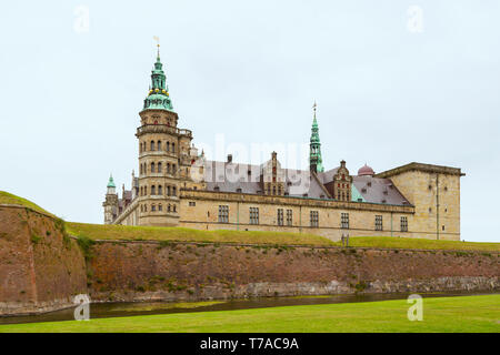 Kronborg castle made famous by William Shakespeare situated in Danish town of Helsingor. Kronborg Castle, unesco world heritage and immortalised as El - Stock Photo
