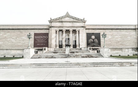 Cleveland, Ohio/USA - May 1, 2019: The Cleveland Museum of Art. One of the most visited Art Museums in the World. 4th wealthiest in The United States. - Stock Photo