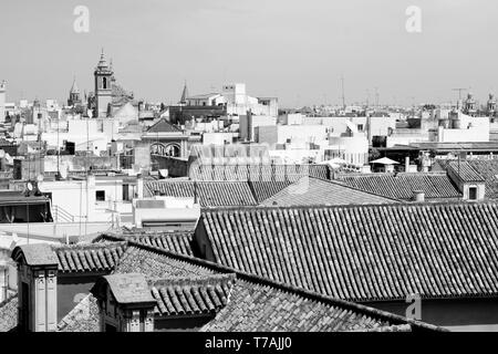 Granada view of rooftops - Stock Photo