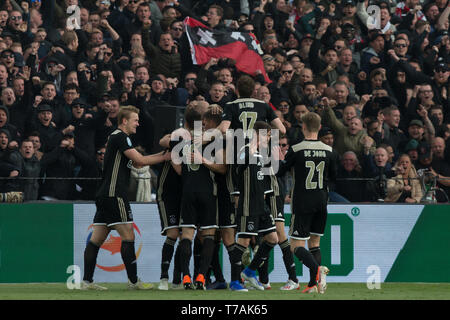 5 may 2019 Rotterdam, The Netherlands Soccer Dutch Cupfinal Willem II v Ajax  KNVB Bekerfinale 2019  Viering doelpunt Ajax - Stock Photo