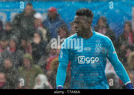 5 may 2019 Rotterdam, The Netherlands Soccer Dutch Cupfinal Willem II v Ajax  KNVB Bekerfinale 2019  Andre Onana (Ajax) - Stock Photo