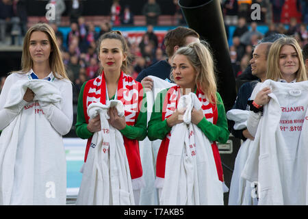 5 may 2019 Rotterdam, The Netherlands Soccer Dutch Cupfinal Willem II v Ajax  KNVB Bekerfinale 2019  Hostesses - Stock Photo