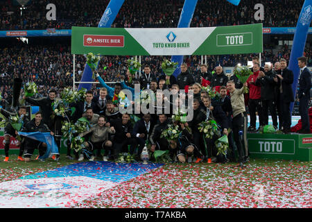 5 may 2019 Rotterdam, The Netherlands Soccer Dutch Cupfinal Willem II v Ajax  KNVB Bekerfinale 2019  Ajax - Stock Photo