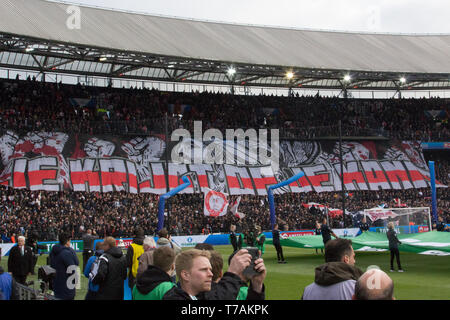 5 may 2019 Rotterdam, The Netherlands Soccer Dutch Cupfinal Willem II v Ajax  KNVB Bekerfinale 2019  Tifo Ajax - Stock Photo