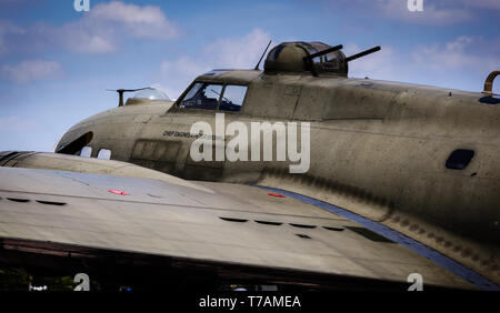 B17G 'Sally B' at Duxford, Cambridgeshire - Stock Photo