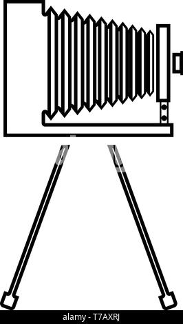 Simple Outline Camera Clipart