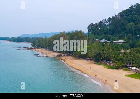 Beach, elevated view, Khao Lak, Thailand - Stock Photo