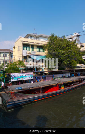 Phanfa Leelard Pier, Khlong Suen Saeb, Bangkok, Thailand - Stock Photo