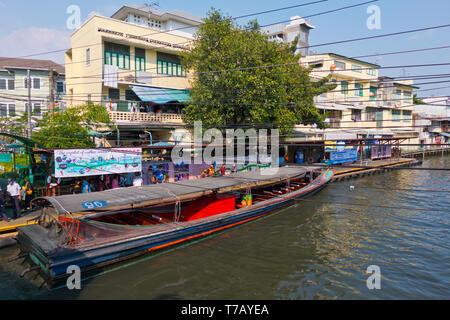 Phanfa Leelard Pier, Khlong Suen Saeb, Bangkok, Thailand - Stock Photo