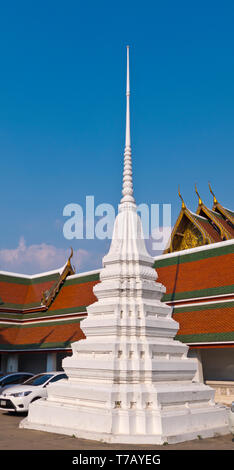 Stupa, Wat Saket, Pom Prap Sattru Phai district, Bangkok, Thailand - Stock Photo