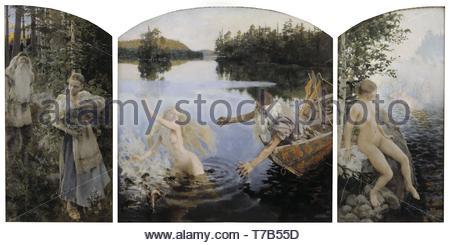 Akseli-Gallen-Kallela-Aino Myth, Triptych - Stock Photo