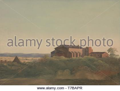 Charles-Lock-Eastlake-A View of the Church of S. Sabina and the Pyramid of Cestius, Rome - Stock Photo