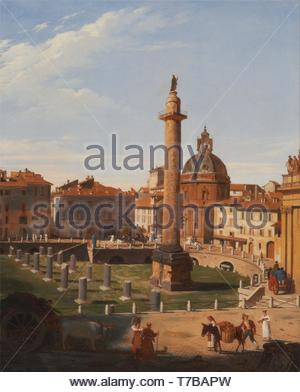 Charles-Lock-Eastlake-A View of Trajans Forum, Rome - Stock Photo