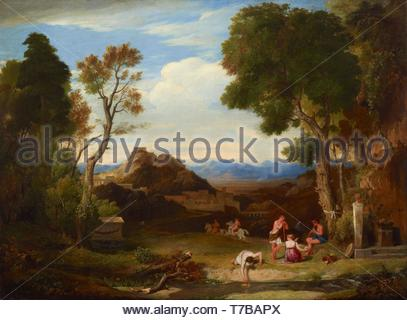 Charles-Lock-Eastlake-Classical landscape - Stock Photo