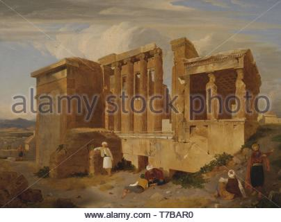 Charles-Lock-Eastlake-The Erechtheum, Athens, with Figures in the Foreground - Stock Photo