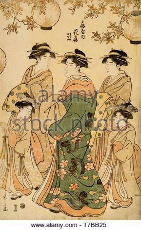Chobunsai-Eishi-Woodcut - Stock Photo