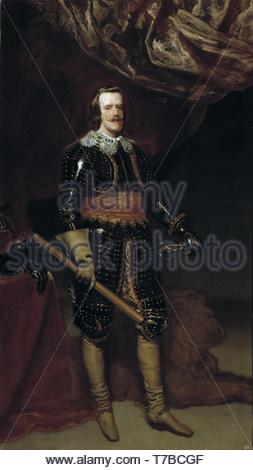 Diego-Velzquez-Philip IV with a lion - Stock Photo