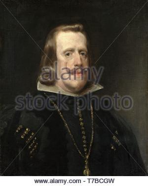 Diego-Velzquez-Portrait of Philip IV - Stock Photo
