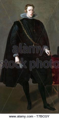 Diego-Velzquez-Portrait of Philip IV of Spain - Stock Photo