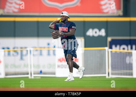 May 04, 2019 Houston Texans cornerback Aaron Colvin (22) during the JJ Watt Charity Classic, a softball game that provides funding for after-school athletic programs enhancing opportunities for middle-school aged children in the community to become involved in athletics, so that they may learn the character traits of accountability, teamwork, leadership, work ethic and perseverance, while in a safe and supervised environment with their peers Maria Lysaker / CSM - Stock Photo