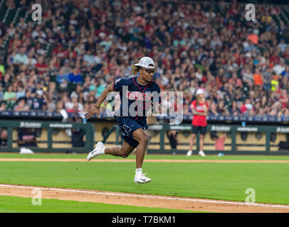 May 04, 2019 Houston Texans strong safety Justin Reid (20) during the JJ Watt Charity Classic, a softball game that provides funding for after-school athletic programs enhancing opportunities for middle-school aged children in the community to become involved in athletics, so that they may learn the character traits of accountability, teamwork, leadership, work ethic and perseverance, while in a safe and supervised environment with their peers Maria Lysaker/CSM - Stock Photo