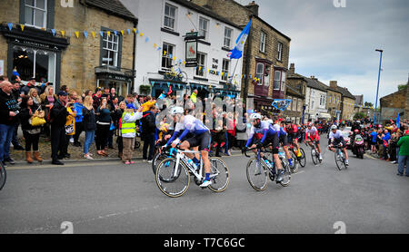Tour de Yorkshire Mens Race Masham North Yorkshire England UK - Stock Photo