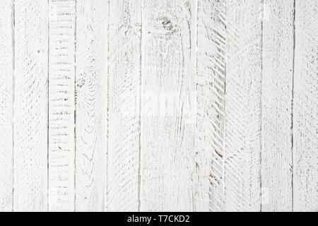 Bright vintage white wooden texture background - Stock Photo