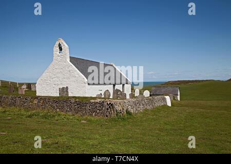 Holy Cross Church, Mwnt, Ceredigion, Wales,UK. - Stock Photo