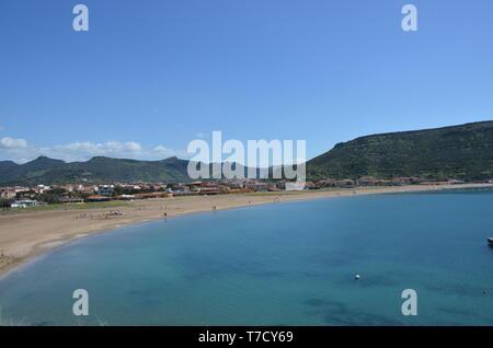 Sardinia, Bosa Marina city - Stock Photo