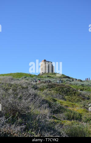 Tharros and San Giovanni tower - Stock Photo