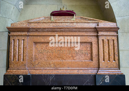 Córdoba Spain -  Dec 7th, 2019: Tomb of Alfonso XI of Castile at Royal Collegiate Church of Saint Hippolytus - Stock Photo