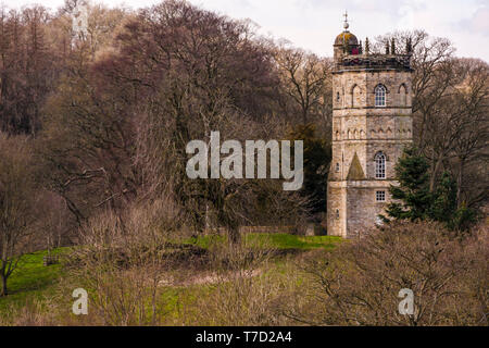 Culloden Tower, Richmond, North Yorkshire, England,UK - Stock Photo