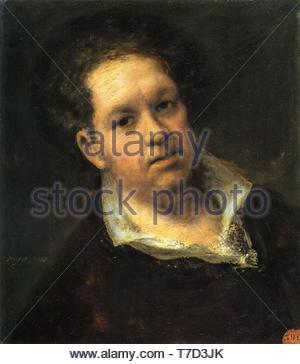 Francisco-de-Goya-Self-portrait at 69 Years - Stock Photo
