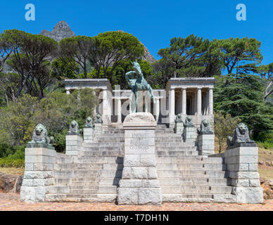 Rhodes Memorial, Devil's Peak, Cape Town, Western Cape, South Africa - Stock Photo