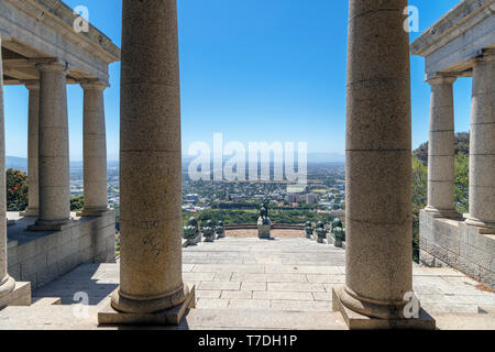 View from the Rhodes Memorial, Devil's Peak, Cape Town, Western Cape, South Africa - Stock Photo