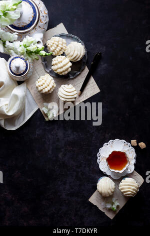 Carrot Cupcakes with Maple Cream Cheese Frosting. - Stock Photo