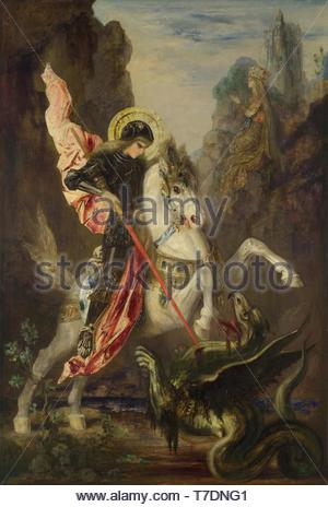 Gustave-Moreau-St. George and the dragon - Stock Photo